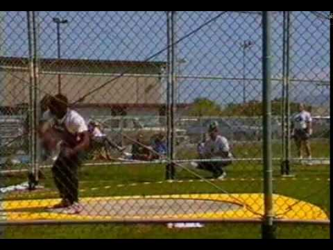 Anthony Washington Discus Throw 71.14m side view