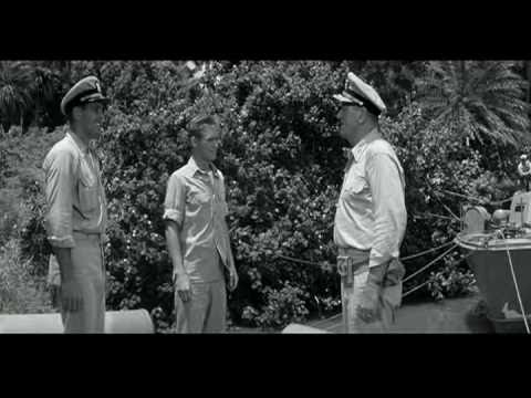 IN HARM'S WAY  Admiral Torrey John Wayne reconciled with son Brandon De Wilde