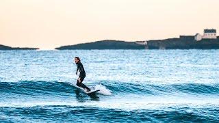 Longboard Surfing with Love Berggren in Norway