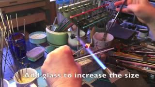 Handmade Glass Bead Demo:  Making a Lampwork Bead