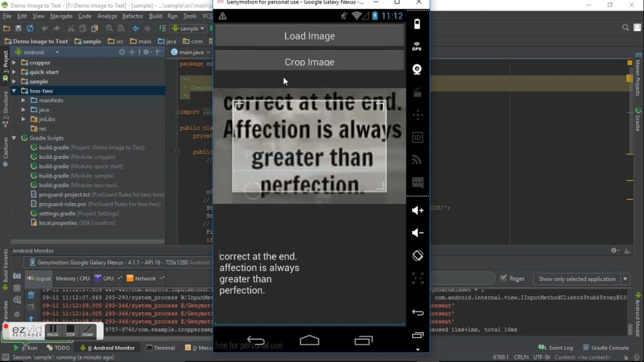 Image to Text Conversion in Android using OCR with Compiled Tesseract  Tess-Two and Source Code