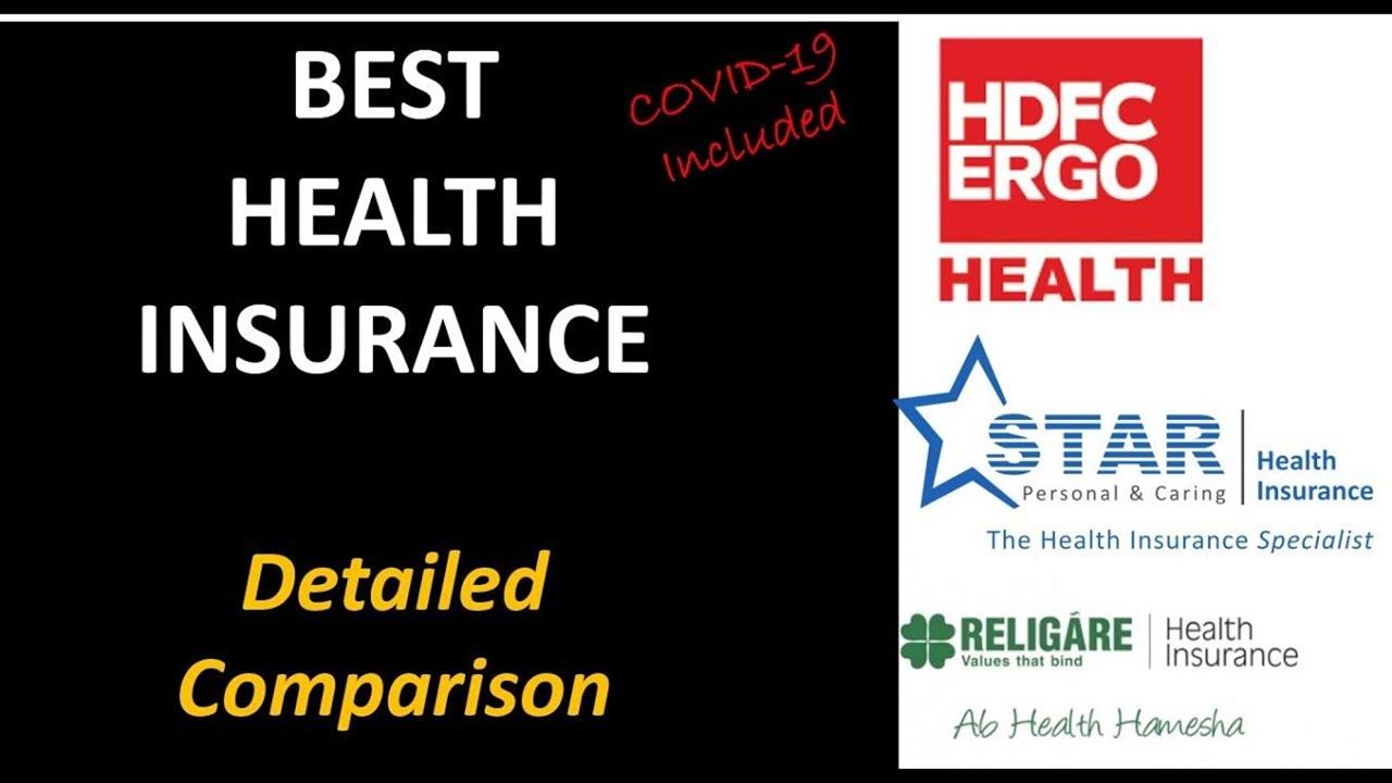 Best Health Insurance 2020 In Hindi Comparison Hdfc Ergo Vs Star Health Vs Religare Health Youtube