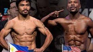 Mayweather vs. Pacquiao boxing match ready. Today.