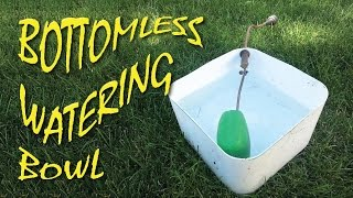 Bottomless Watering Bowl for Chickens Dogs Cats