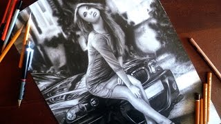 BMW 3-SERIES E46 and GIRL - DRAWING ISP 2015