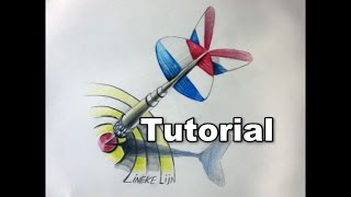 Drawing a DART arrow in 3D Perspective  easy tutorial