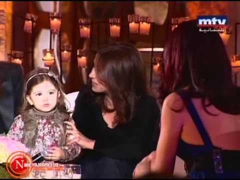 Nancy Ajram Parle en Français Avec sa Fille Mila!!Trop Mimi
