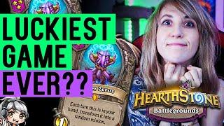 Hearthstone Battlegrounds | LUCKIEST GAME EVER?? ELISE + SHIFTER ZERUS