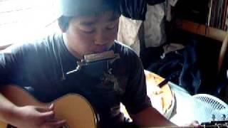 井上陽水さんの夢の中へを、ハーモニカとギターだけでやってみました。y...