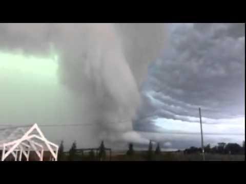Vicious Storm Rolling into Traverse City, Michigan