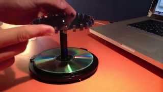 Sospensione magnetica con calamite al neodimio e porta cd