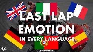 Dovizioso + Marquez last lap battle in EVERY language! | 2019 #AustrianGP