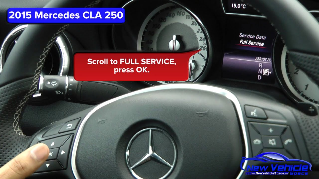 2015 Mercedes Cla 250 Oil Light Reset Service Light