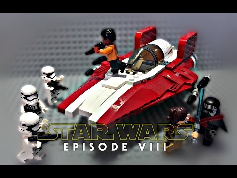 LEGO Star Wars Episode 8 The Last Jedi - Resistance A-Wing Starfighter MOC - Review