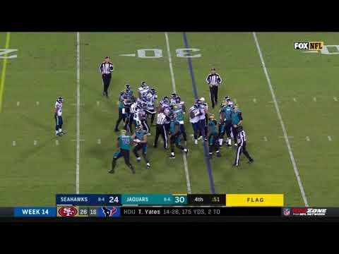 Seahawks vs  Jaguars Fight   NFL
