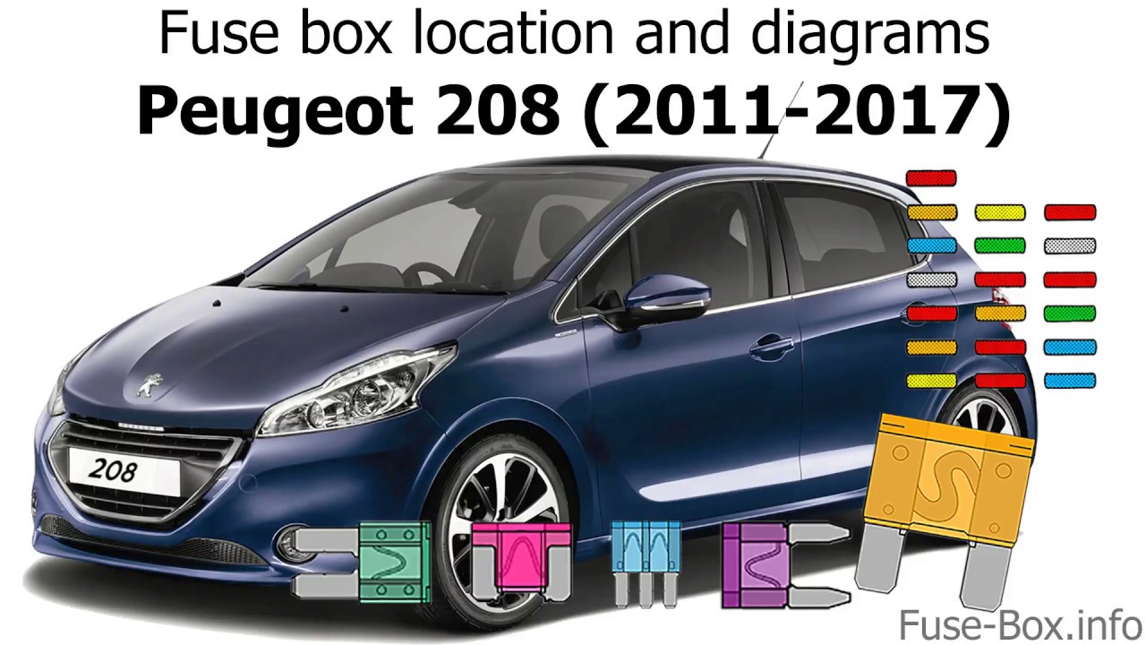 Fuse Box Location And Diagrams  Peugeot 208  2011-2017