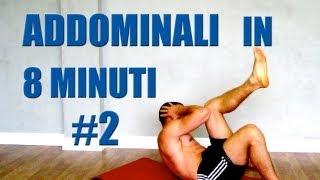 Addominali Allenamento in 8 minuti: Programma #2 Obliqui