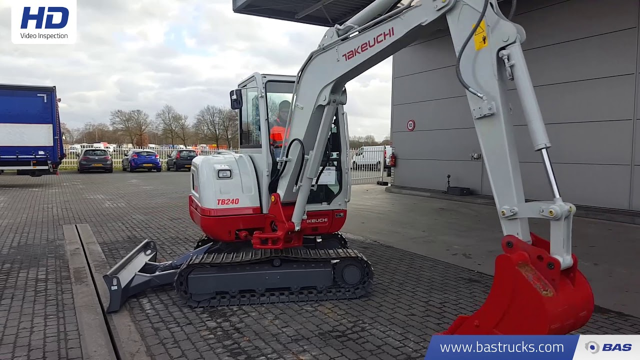 Crawler excavator Takeuchi TB240 New unused machine - hammer line — 3484936