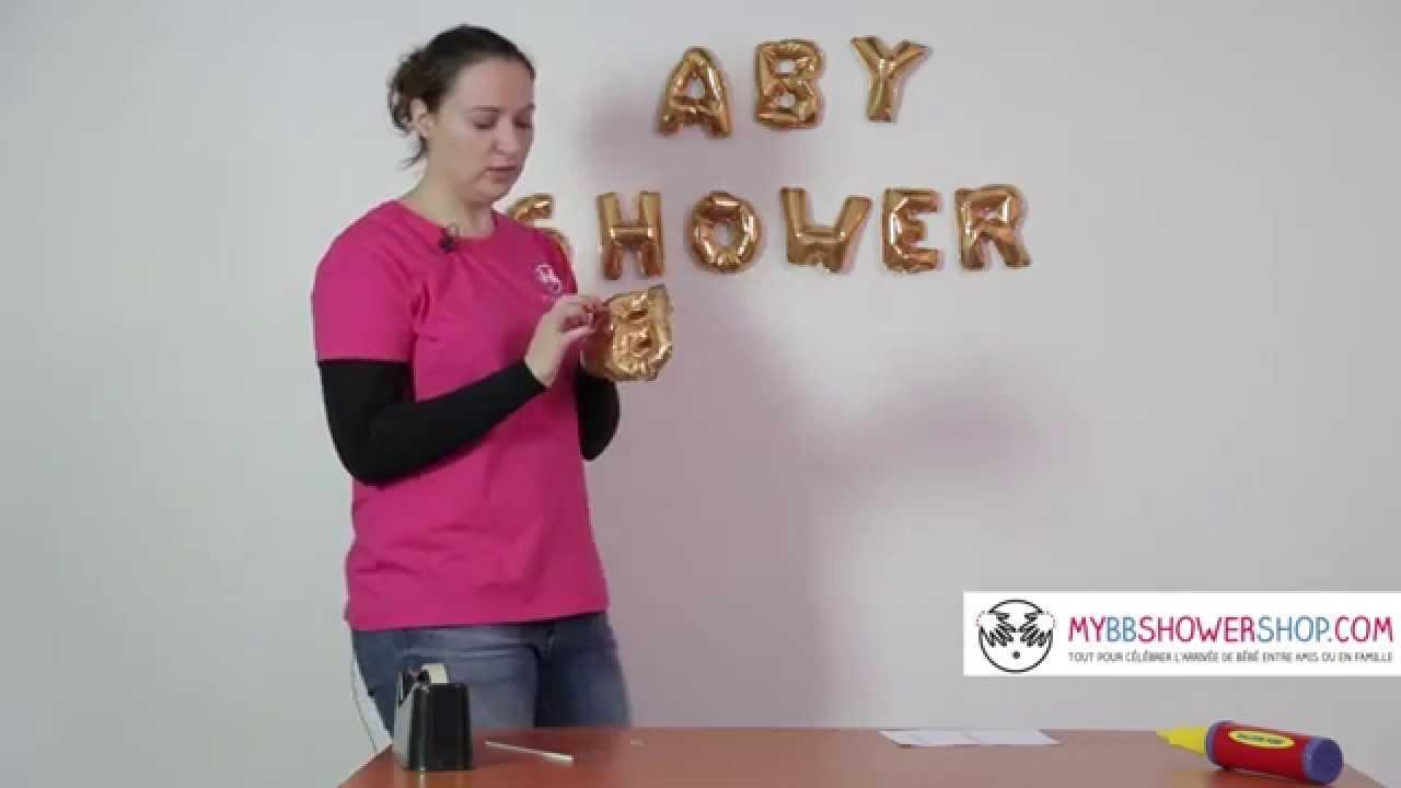 tuto de claire  d u00e9coration ballons en forme de lettres baby shower