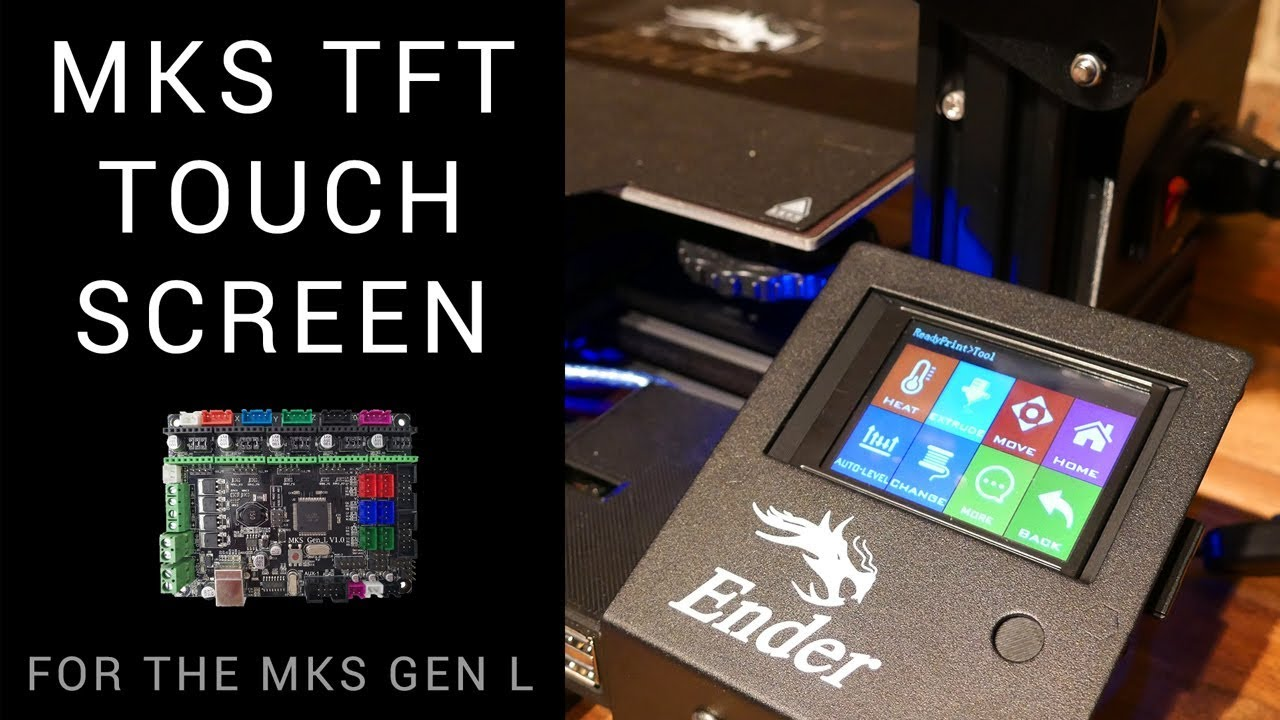 MKS TFT28 touch screen on the Ender 3