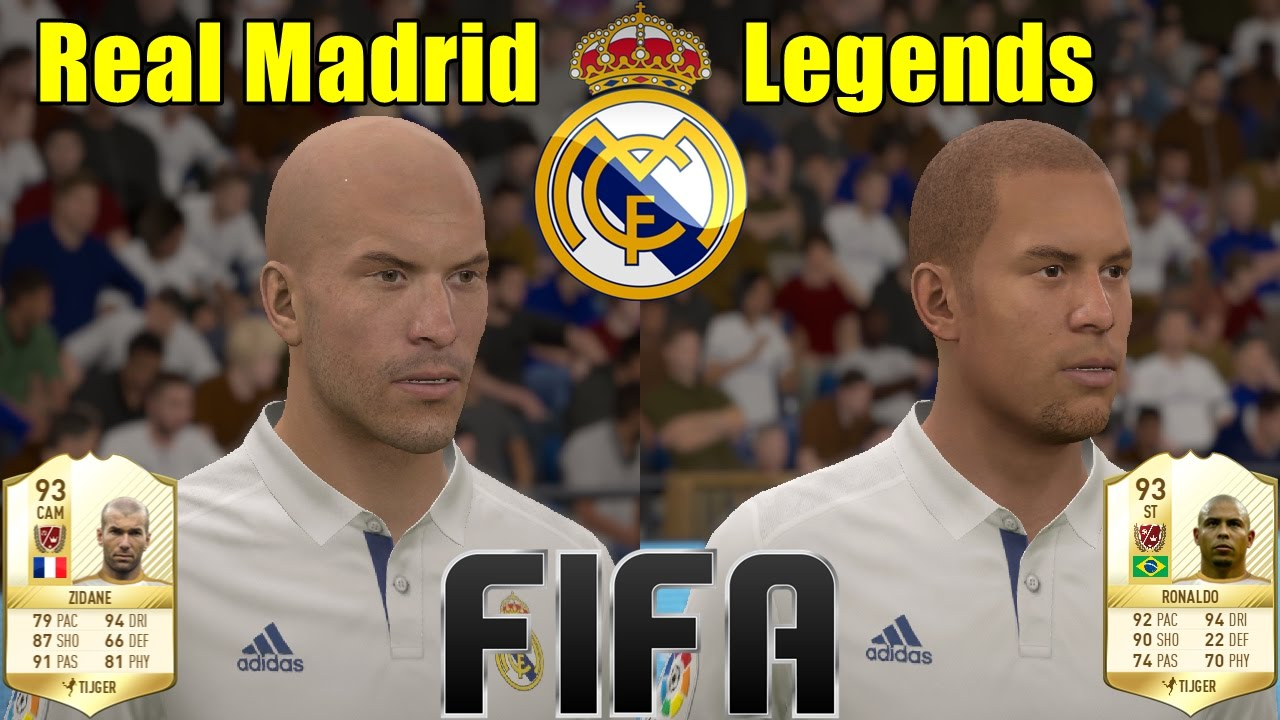 with  Legends ( Ultimate FIFA 18 Madrid for Team New Real