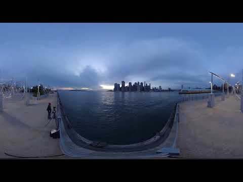 New York City Sunset Timelaps 360 VR. Filmed with Qoocam 8k