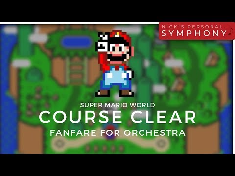 Super Mario World | Course Clear Fanfare For Orchestra