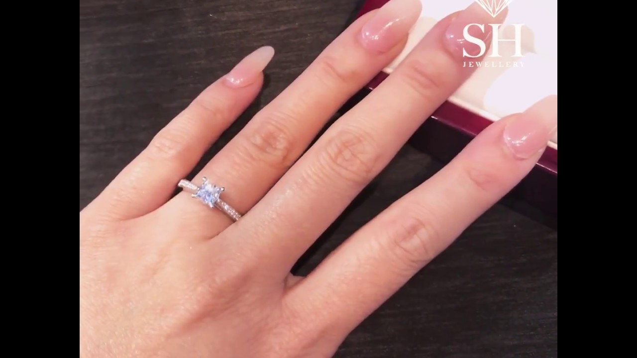 Timeless Princess Cut 4-Claw engagement ring R02-102607F-W0250 ...
