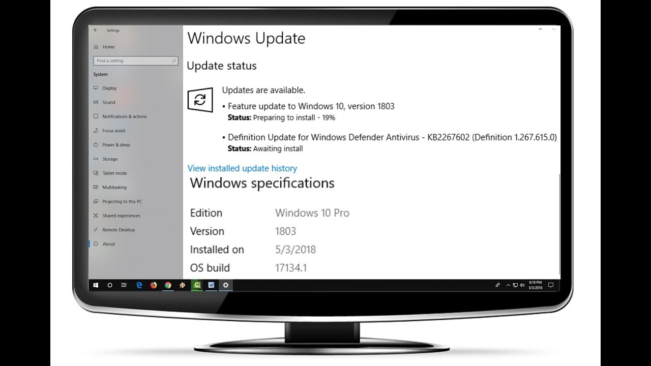 windows 10 how to get 1803 update