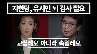 자유한국당, 유시민 뇌 진단 필요, 속일레요 그만해라 , 하노이 회담 결렬 나경원 탓?