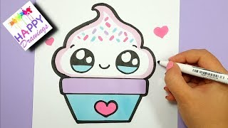 HOW TO DRAW A CUTE AND YUMMY SUNDAY ICE CREAM SUPER EASY