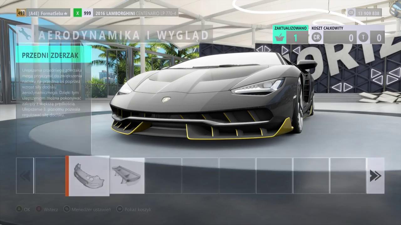 Forza Horizon 3 Tuning 2016 Lamborghini Centenario Lp 770 4 Top