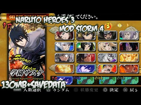 Naruto Ultimate Ninja Storm 4: Great Ninja WarV1 Mod Heroes 3 PPSSPP Android Download