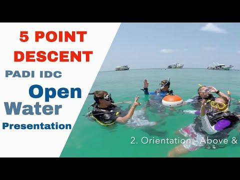 PADI 5 Point Decent Skill IDC Open Water Presentation