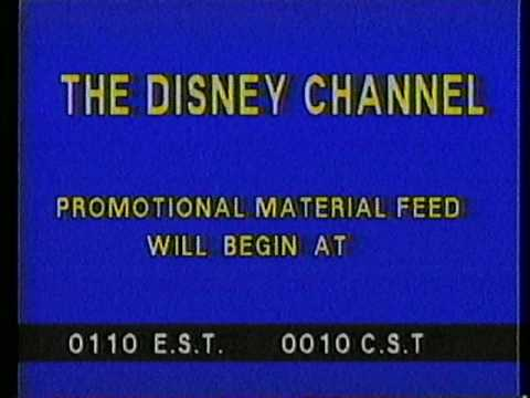 Disney Channel Sign Off & Promo Feed (1985)