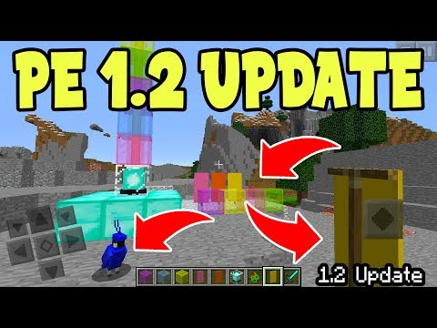 NEW Minecraft Pocket Edition Update 1.2 - STAINED GLASS, BANNERS, NEW MOBS, CROSS PLATFORM