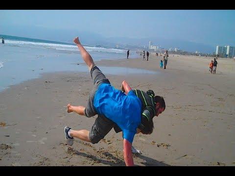 crazy beach fight youtube