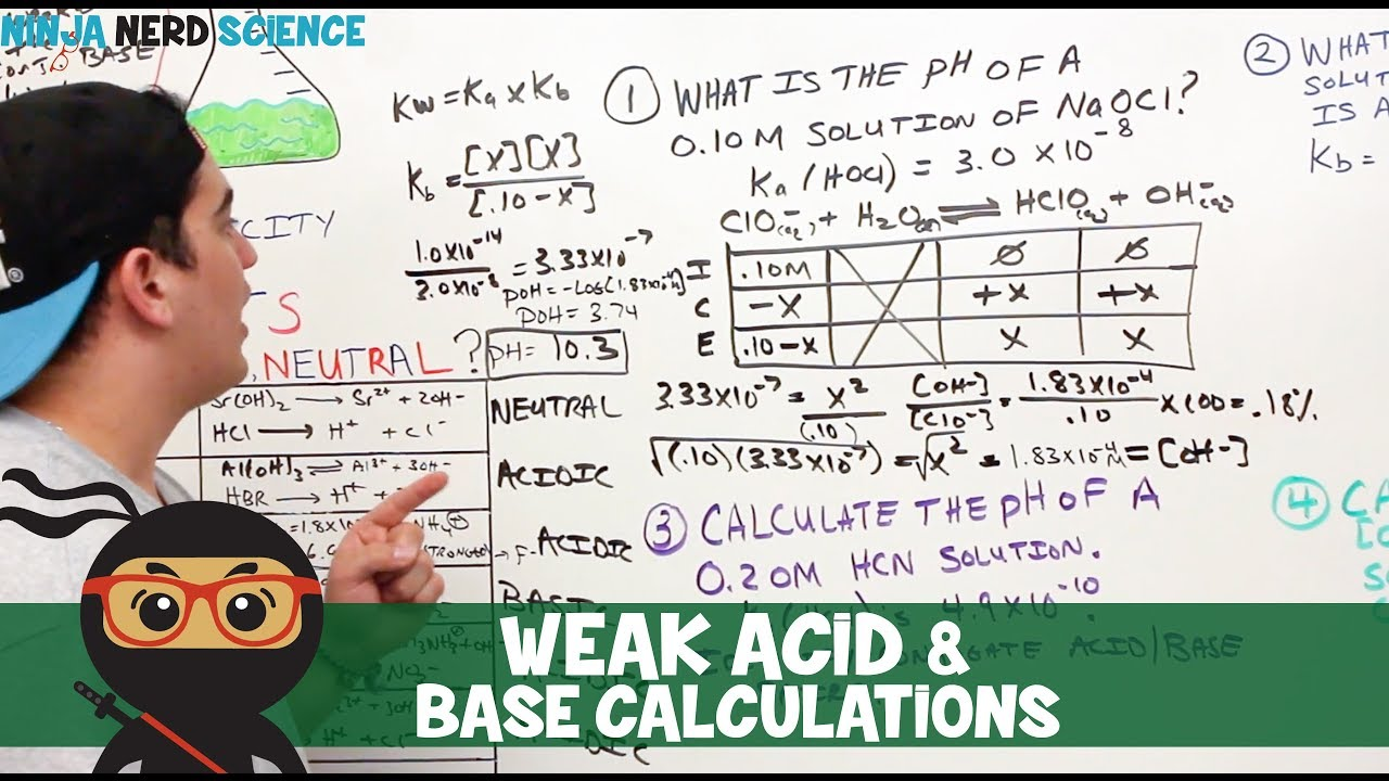 acid and base calculations pdf