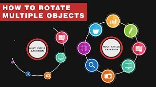 How to Animate Multiple Circle Rotation in After Effects, Motion Graphics Tutorial