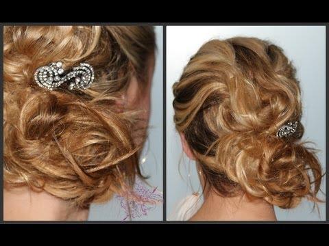 simple beach bridal hair- messy