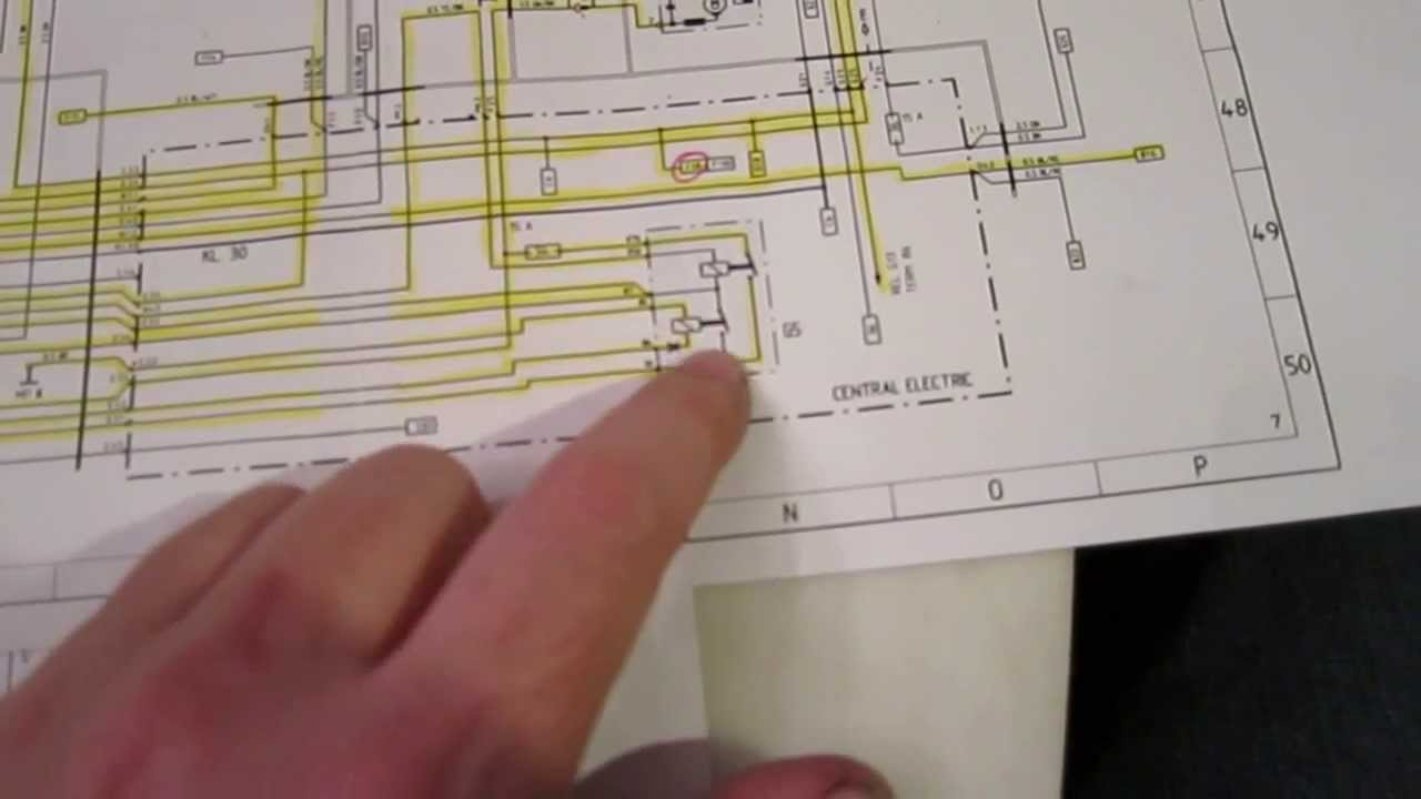 read an automotive wiring diagram (Porsche 944) - YouTube
