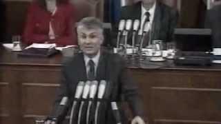 Govor Zorana Djindjica u Skupstini Srbije nakon izbora za premijera