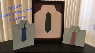 Origami Shirt and Tie Father's Day Card