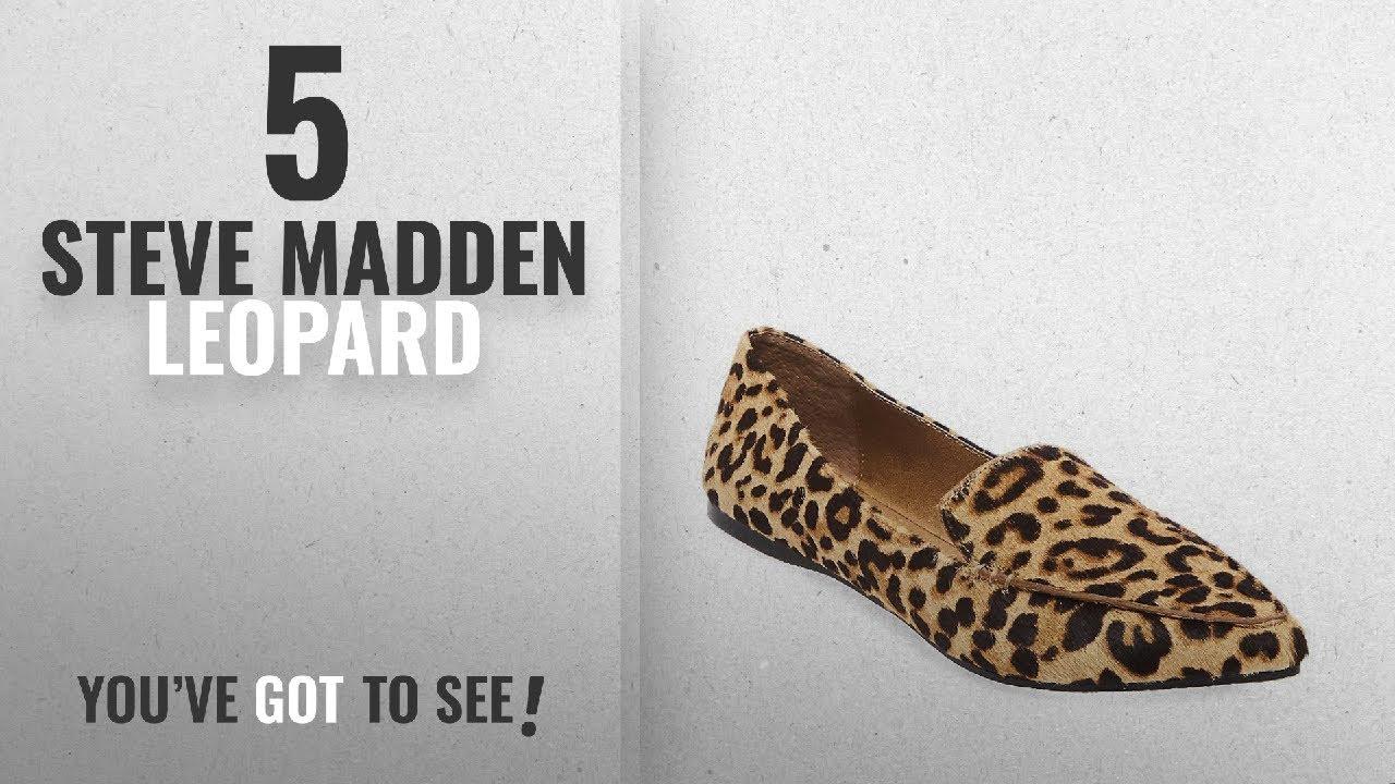 61bc6e32b8e3 Top 5 Steve Madden Leopard [2018]: Steve Madden Women's Featherl Loafer  Flat, Leopard, 9.5 M US
