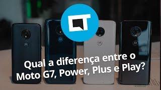 Qual a diferença entre o Moto G7, Power, Plus e Play