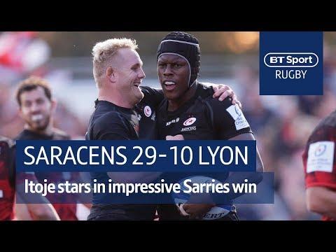 Saracens vs Lyon (29-10) Heineken Champions Cup Highlights