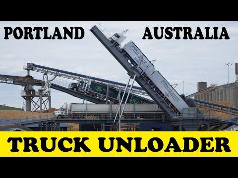 Truck unloader at Portland Vic Australia - Australian Trucks