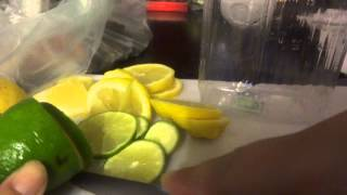 Lemon lime water How to make it at home saving money