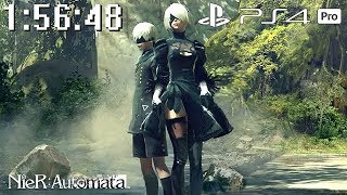 NieR Automata PS4 Pro Speedrun 1:56:48 No Saves Single Segment 60fps
