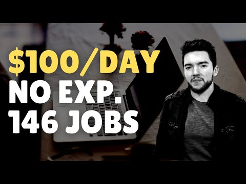 Easy $100/Day – 146 Work-From-Home Jobs No Experience Hiring 2021